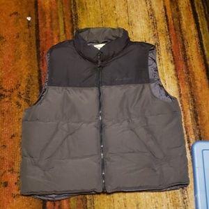 Eddie Bauer Mens Large Goose Down Puffer Vest